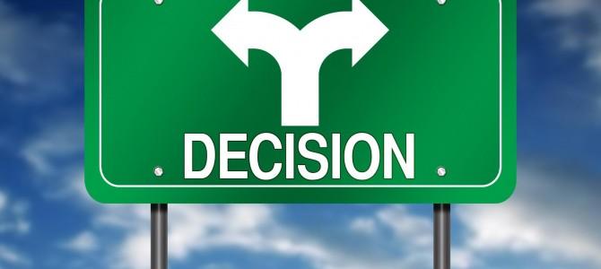 ¿Te cuesta tomar decisiones?