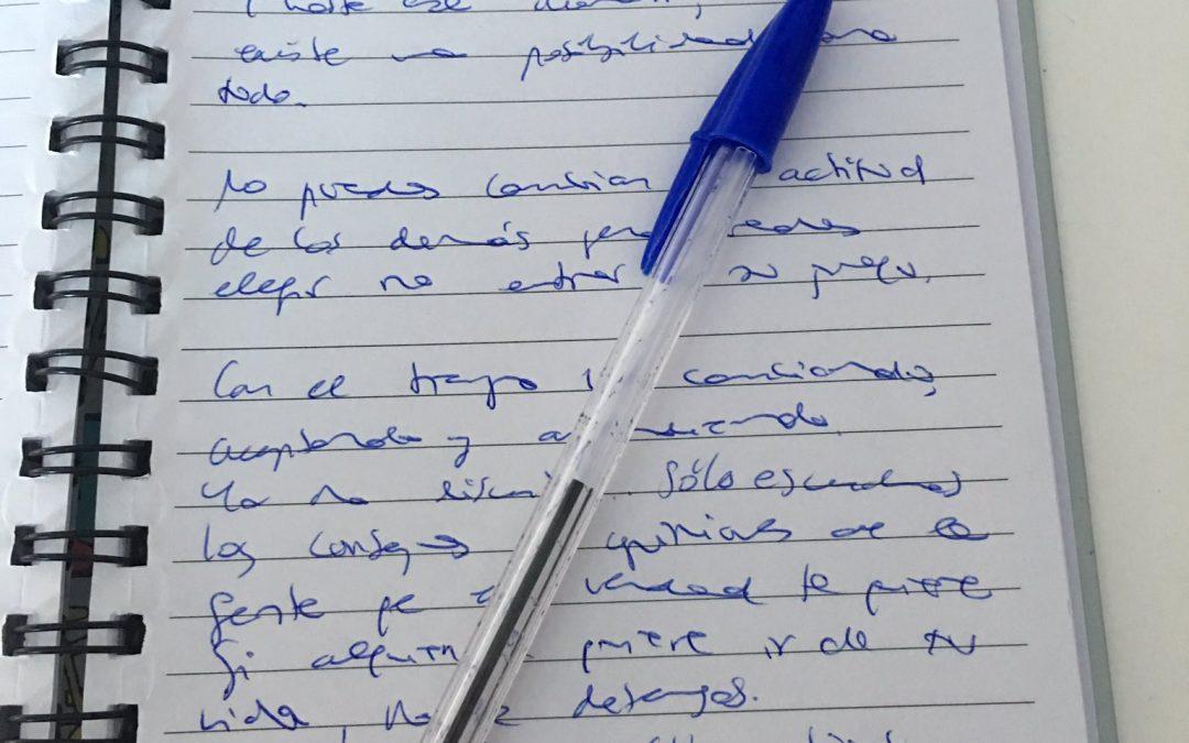 Escribir como herramienta terapéutica